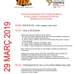Acte de presentació de la Taula rodona de comerç i el nou Centre Comercial on-line de Mollerussa comercial