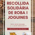 Recollida solidària de roba i joguines!